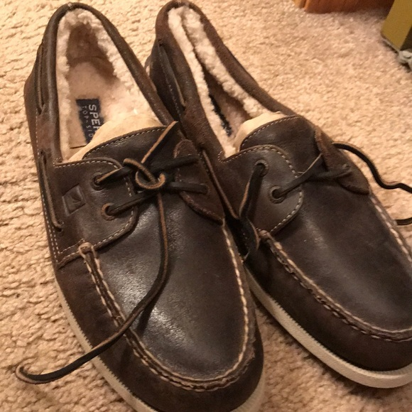 Sperry Shoes   Furry Sperries   Poshmark